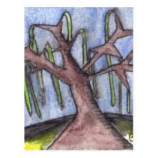Print 8 Droopy Depressed Tree in the Middle of No Postcard