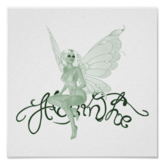 Print - Absinthe Art Signature Green Fairy