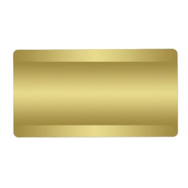 Print at Home Gold Tone Address Label