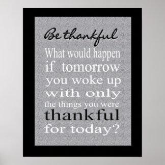 Print - Be Thankful 001