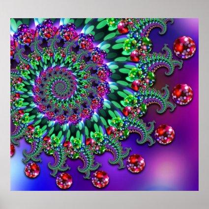 Print - Bokeh Fractal Purple Terquoise