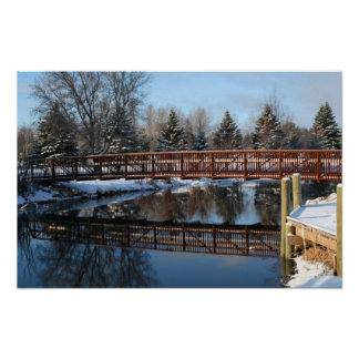 Print   - Bridge over Ausable River