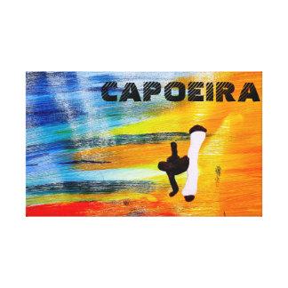 print capoeira martial arts axe gallery wrapped canvas