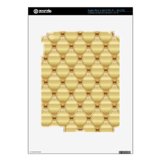 Print caramel luxury. skins for iPad 3