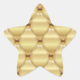 Print caramel luxury. star sticker