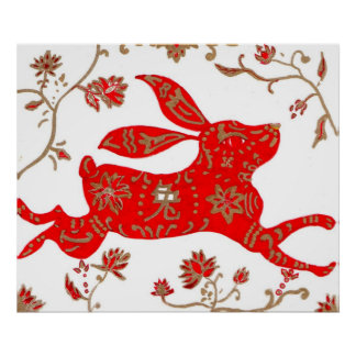 Print, Chinese New Year Rabbit Poster