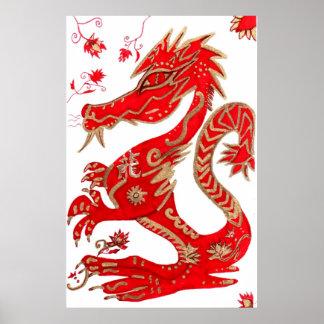 Print, Chinese Zodiac Dragon Poster