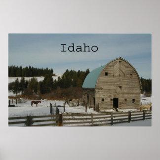 ~Print~ del invierno de Idaho Póster