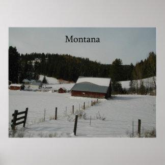 ~Print~ del invierno de Montana Póster