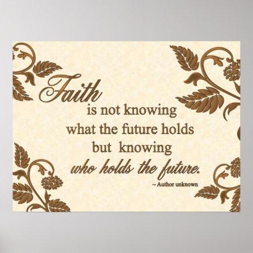 Print - Faith: Who Holds the Future