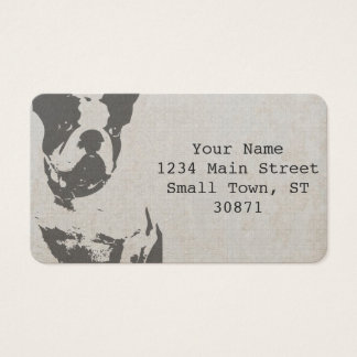 print French bulldog in vintage texture Business Card