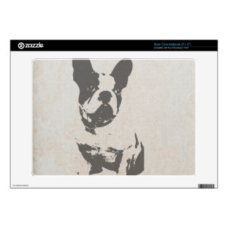 print French bulldog in vintage texture Decal For Acer Chromebook