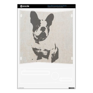 print French bulldog in vintage texture Decals For Xbox 360 S