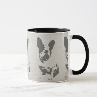 print French bulldog in vintage texture Mug