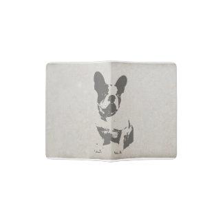 print French bulldog in vintage texture Passport Holder