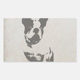 print French bulldog in vintage texture Rectangular Sticker