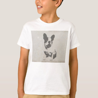 print French bulldog in vintage texture T-Shirt
