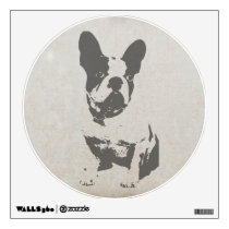 print French bulldog in vintage texture Wall Decal