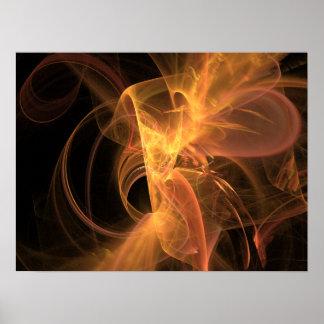 Print: Golden Swirl Poster