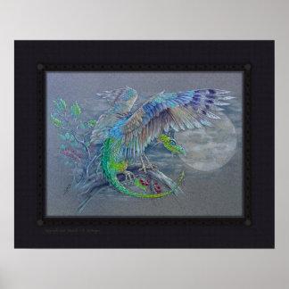 Print - Green Bird Dragon