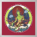 PRINT Green Tara - with mantra