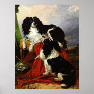 Print: King Charles Spaniels - Richard Ansdell Poster