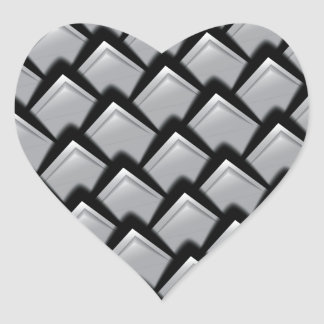 Print luxury silvery scales. heart sticker