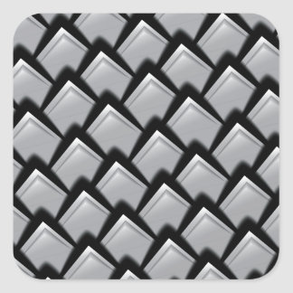 Print luxury silvery scales. square sticker