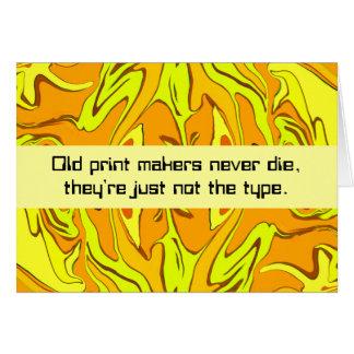 print makers humor card