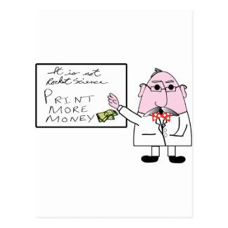 Print More Money Postcard