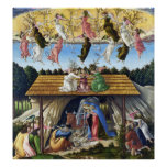 Print: Mystic Nativity (detail) by Botticelli Poster