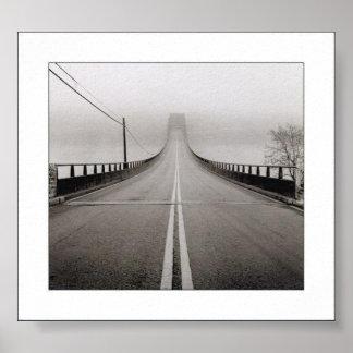 Print of a Bridge in Fog