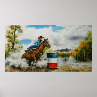 Print of Barrell Racer