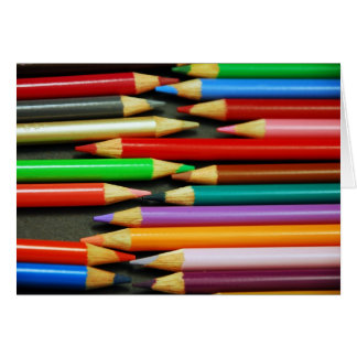 Print of Colourful pencils Card
