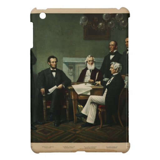 [Print of Lincoln's cabinet based on Carpenter pai Cover For The iPad Mini