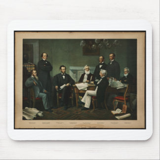 [Print of Lincoln's cabinet based on Carpenter pai Mouse Pad