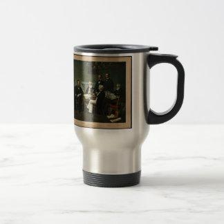 [Print of Lincoln's cabinet based on Carpenter pai Travel Mug