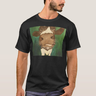 print of my cow painting title Giz a taste T-Shirt