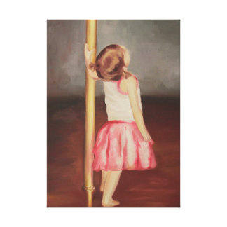 """Print of Original Oil Painting """"Aspiring Dancer"""""""