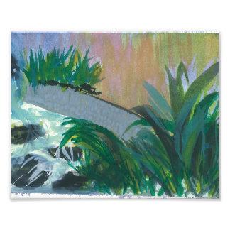 "Print of Original Watercolor called ""Hotel Garden"" Photo Print"