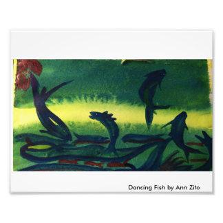 """Print of Painting called """"Dancing Fish"""" watercolor Photo Print"""