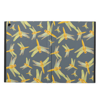 Print of yellow and gold dragonflies iPad air case