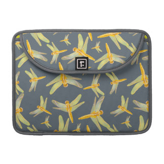 Print of yellow and gold dragonflies MacBook pro sleeve