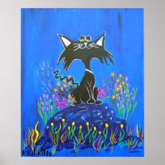 Print on Canvas-Wink's Picks Kool Kitty