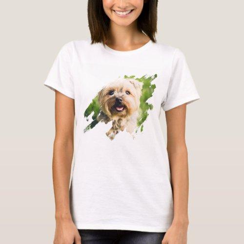 Print Own Custom Photo Brush Stroke Vert Picture T_Shirt
