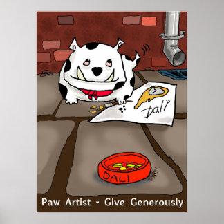 "Print ""Paw Artist Dali"" - by Kev Moore"