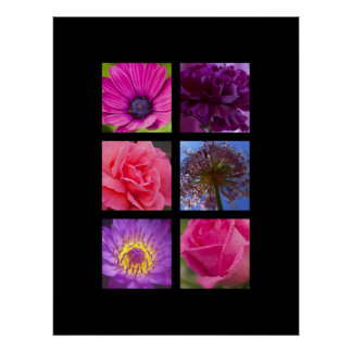 Print - Pink and Purple Flowers
