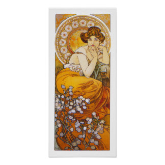 Print/Poster: Alphonse Mucha - Topaz Poster