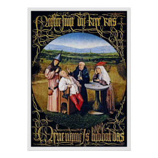 Print/Poster: Hieronymous Bosch-Extracting Stone Poster