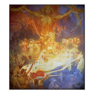 Print/Poster: Mucha - Apotheosis of the Slavs Poster